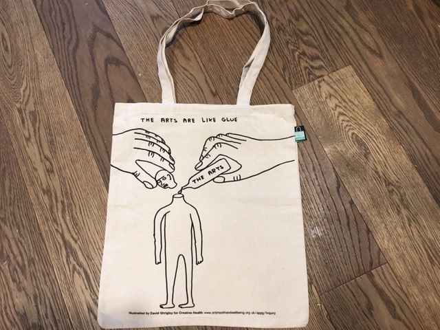 Tote Bag - The arts are like glue
